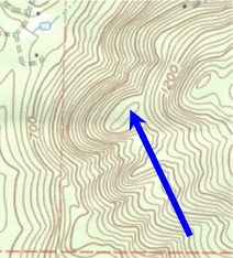 Spot Elevation Topographic Symbol for searching for Lost Treasures, gold prospecting, metal detecting, ghost towns and ghost town hunting, and rock hounding